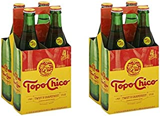 Topo Chico Sparkling Mineral Water, Twist of Grapefruit, 12 Fl Oz, 4 Count (Pack of 2)