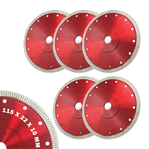 Adust Tile Cutter Diamond Saw Blade 4.5 inch Rotorazer Tile Saw Tools Blades Cutting Disc Wheel for Porcelain Tiles Granite Ceramics compatible with Dewalt Makita Bosch Ryobi Tile Saw Angle Grinder Cutters