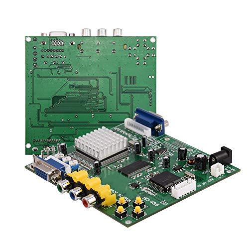 sjlerst Arcade-Spiel CGA/EGA/YUV/RGB zu VGA HD-Videokonverterplatine für CRT-LCD-PDP-Monitor, für CGA/EGA/VGA/YUV-Komponentensignaleingang (15 kHz, 24 kHz, 31 kHz)