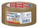 tesapack® Ultra Strong - PVC-Klebebänder für festes Verpacken und sicheres Bündeln - Braun - 66 m x 50 mm