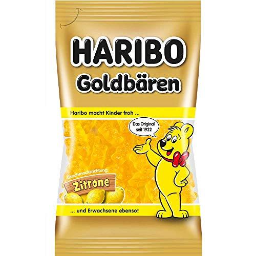 Haribo Goldbären Zitrone sortenrein (75g Beutel)