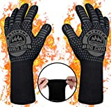 AMERICAN BBQ GRILL PREMIUM Barbecue Gloves - Extreme Heat Resistant Grilling Gloves