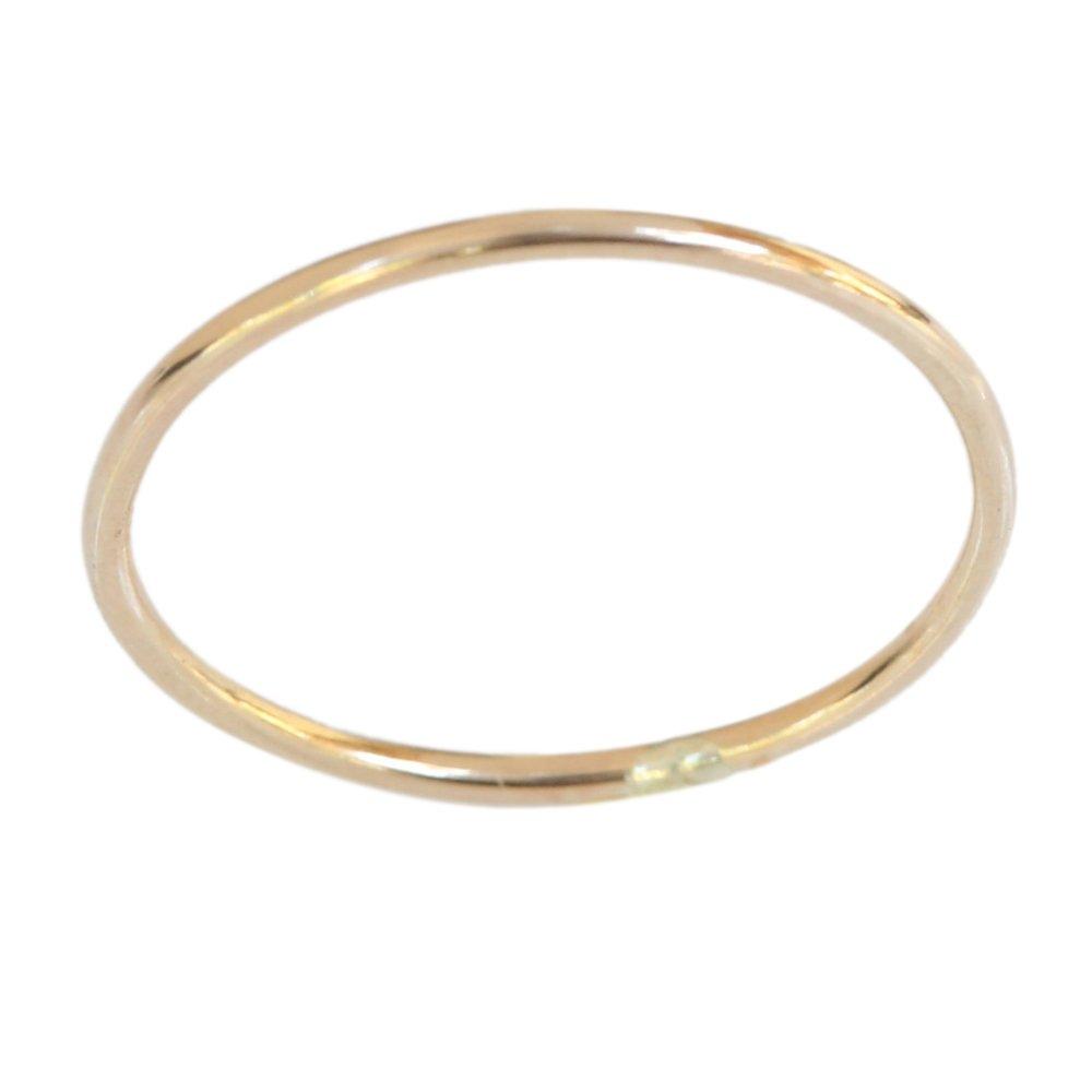 Gold Thumb Ring California Toe Rings 14k Gold Filled 1mm Thin Plain Band Thumb Ring (10)