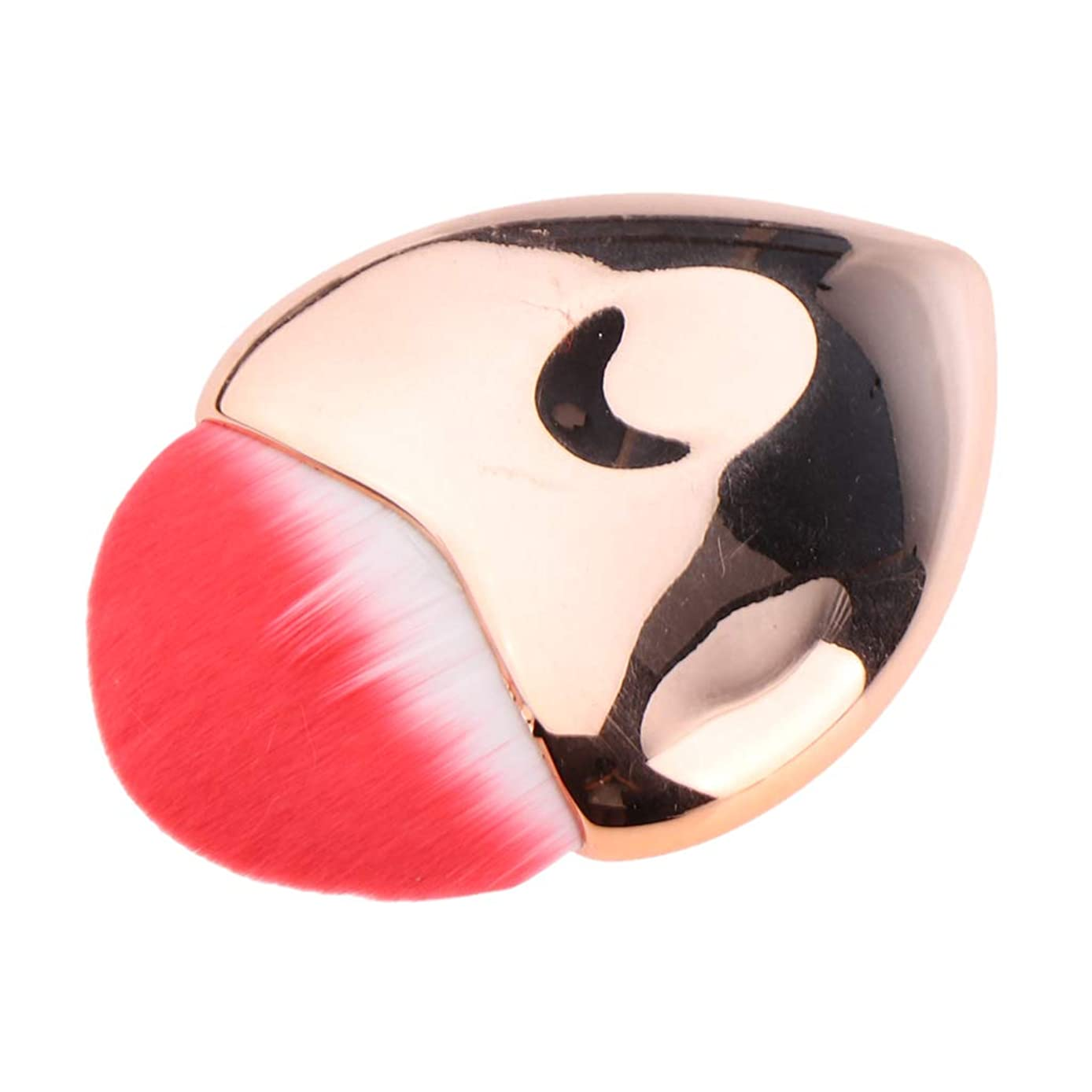 報復雇用者改善B Blesiya メイクアップブラシ 化粧ブラシ パウダー お化粧 可愛い ハート 4色選べ - ローズゴールド