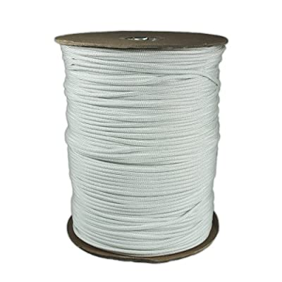 PARACORD PLANET 1000 Foot Spool White Parachute Cord 7-Strand Core 550 Cord