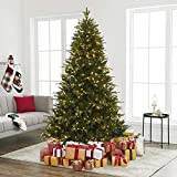 Naomi Home Multi-Color Lights Pre-lit Artificial Christmas Tree with Stand Green/6.5 ft