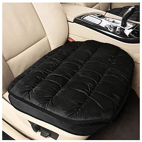 Gemütliches Warme Sitzkissen Sitzauflage de Samt Auto Sitzbezug 3PCS/ Sitzbezug Einzelsitzbezug Schwarz Sitz Pad 1 Pack