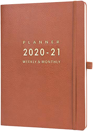 "2020-2021 Planner with Pen Holder - 8.5"" x 11"" Weekly & Monthly Planner with Calendar Stickers, July 2020- June 2021, Inner Pocket with 24 Notes Pages, A4 Premium Thicker Paper"