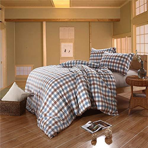 Heqianqian Colcha de Tres Piezas Lisas de poliéster/algodón en Relieve, Colcha para Cama de Matrimonio, para Lavar en el Dormitorio, Lavar a la Cama de la casa, algodón, Rojo, 2 m