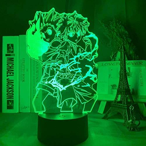 3D Led Luz De Noche Lámpara De Tabla Para Decoración Del Hogar Anime 7 Colores Touch Sensor Lámpara Cargador Usb Dormitorio Decoración Regalo De Cumpleaños Para Niños
