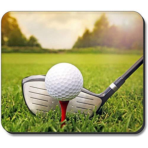Mauspad - Golfschläger & Ball, rechteckiges rutschfestes Gummi-Mauspad