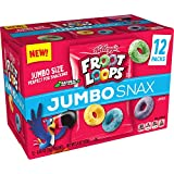Kellogg's Froot Loops Jumbo Snax, Cereal Snacks, Original, On the Go, 12 - .45 oz bags(Pack of 4, 48 count total)