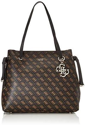 Guess Digital Shopper, bolso para Mujer, marrón, Talla única