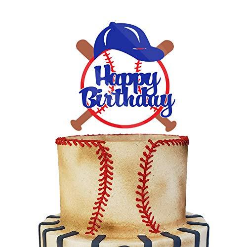 Acrylic Baseball Happy Birthday Cake Topper, Baseball Smash Cake Topper, Baseball Themed Birthday Party Decoration, Baseball Lover Party Supplies