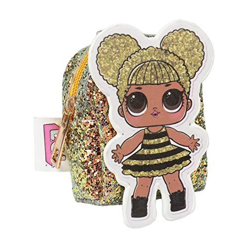 L O L Surprise! | Monedero Llavero Adorable Lindo Brillante Lentejuelas Glitter | Colgante | Mini Bolso (Monedero Llavero Queen Bee)