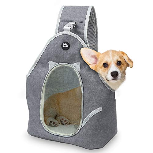 Zacro Tragetuch Hund, Pet Sling Carrier Tragetücher Hunde Fronttasche Hundetragebeutel,Verstellbare Schultergurte Katze Haustier Hand Schleuderträger Schultertasche für Reisen Outdoor