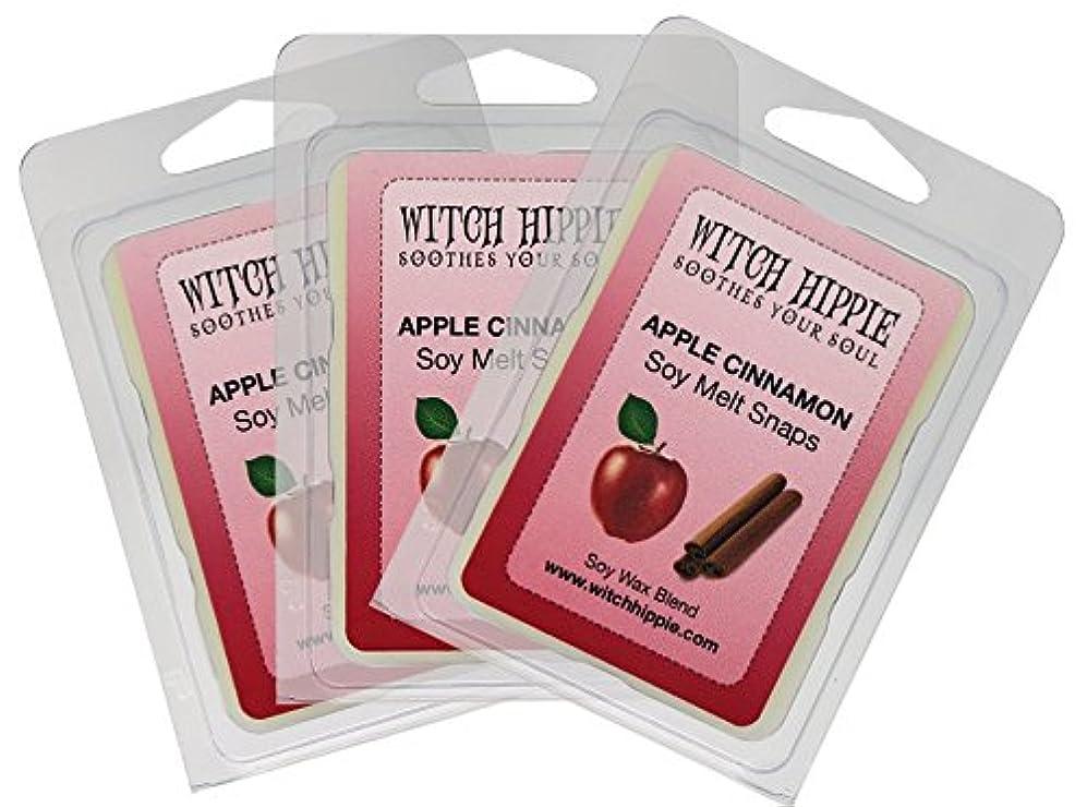 マーク休暇万一に備えてApple Cinnamon Scented Wickless Candle Tarts、3パック、18自然大豆ワックスキューブby魔女ヒッピー