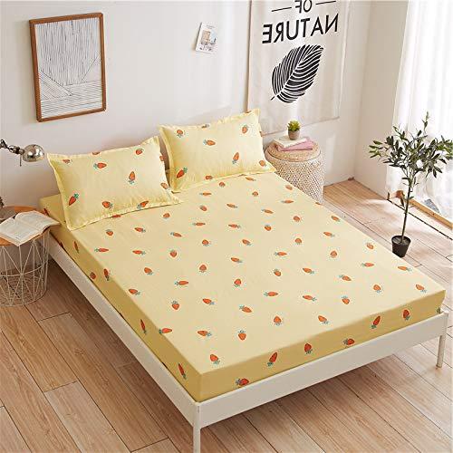 IKITOBI Sábana bajera ajustable, muy suave, de color liso, elástica, una funda de almohada separada