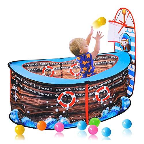 HBIAO Parque de Bolas para Piscina Infantil, Nuevo Barco Pirata Carpa para niños casa de Juegos Piscina de Bolas Marinas Carpa de Juegos de Interior casa de Juegos Valla de Juegos