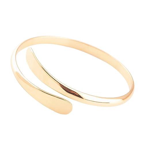 dc4b59a60ab7 iTemer 1 pieza exquisita moda cobre salvaje apertura ajustable damas pulsera  esposa regalo de la madre