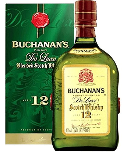 Buchanan's 12 Jahre Finest De Luxe Blended Scoch Whisky 1,0 L