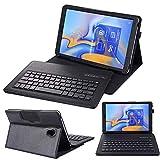 SsHhUu Clavier Étui pour Galaxy Tab S6 10.5' 2019 SM-T860/T865/T867, Clavier Détachable sans Fil...