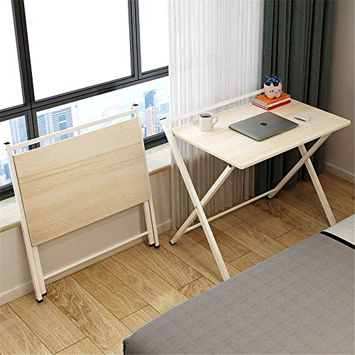 CHHD Folding Patio Side Table, Combination of Wood And Metal, for Laptop Table Stand, Magazine News Reading, Working, for Home, Garden, Outdoor Use