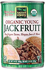 Native Forest Organic Young Jackfruit (aka Jackfruit) are grown in lush organic orchards on the beautiful island country of Sri Lanka Big on the outside, young jackfruit's fleshy interior has a mild flavor and meaty texture that is remarkably similar...
