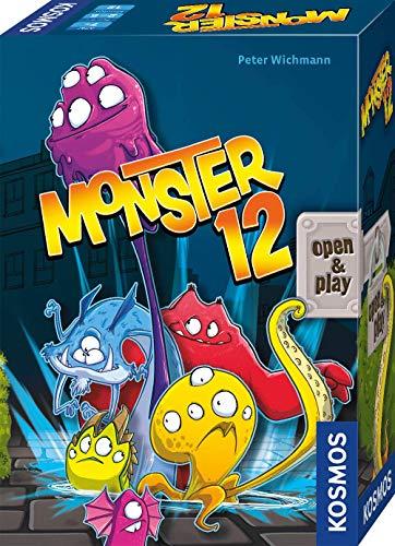 KOSMOS 680688 Monster 12, lustiges Würfelspiel, für 2 -5 Personen, Gesellschaftsspiel, für unterwegs, Reise-Spiel, kleines Geschenk für Kinder und Erwachsene