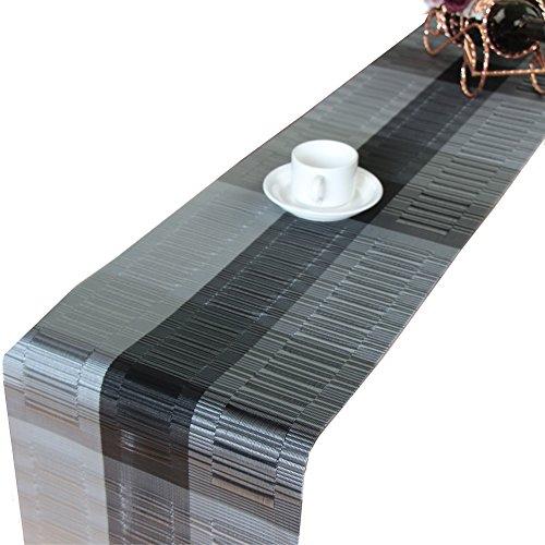 KGOGO Tischläufer, Abwaschbar rutschfest Tischdecken, PVC Abgrifffeste Hitzebeständig Tischsets, für drinnen und draußen - für küche Restaurant, Hotel, Cafe, Terrasse, Balkon und Garten, 30 x 180cm