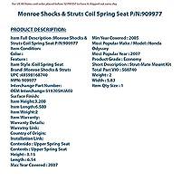 Monroe Shocks & Struts 909977 ベアリングプレート