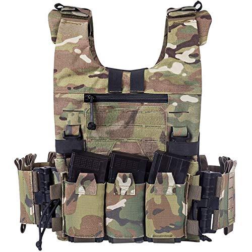 NBALL-TT Camouflage Tactical Vest Military Modular Vest Plate Carrier Vest Quick Change Lightweight Molle Tactical Vest Outdoor