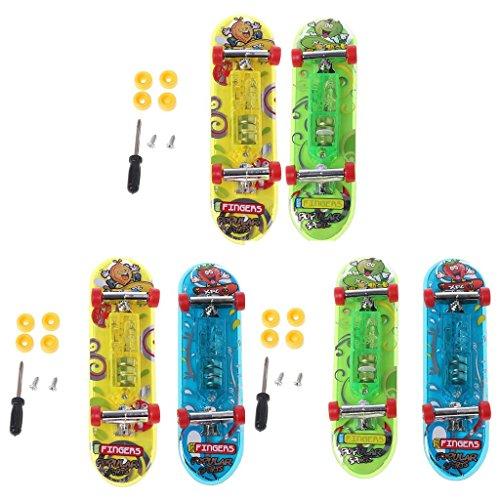 Mentin 2 stücke LED Mini Skateboard Finger Bord Tech Deck Kinder Spielzeug Geschenke Baby Spielzeug