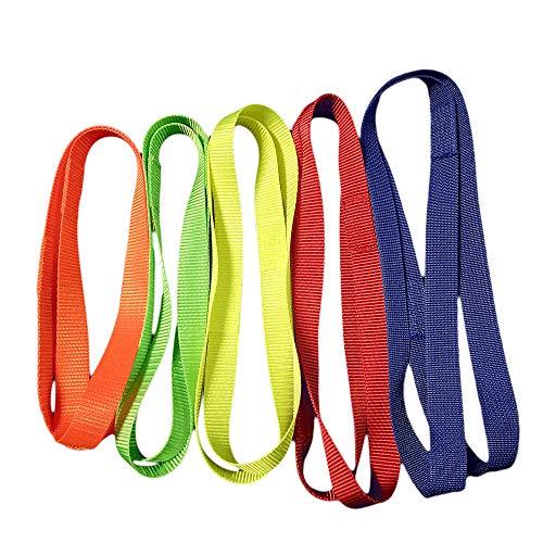 IWA-Gymnastikschuhe Trainingshilfe für Übungen am Reck - Reckschlaufen, Feste ungepolsterte Turnschlaufen, Größe:- 5 -