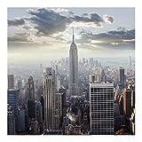 Bilderwelten Fotomural - Sunrise in New York - Wall Mural cuadrado papel pintado fotomurales murales pared papel para pared foto 3D mural pared barato decorativo, Dimensión Alto x Ancho: 192cm x 192cm