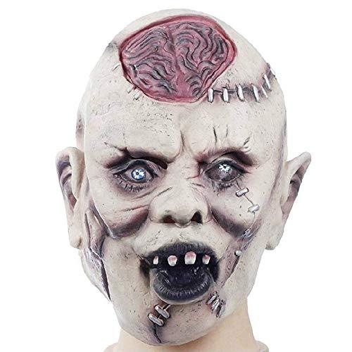 LZRDZSWCW Terror Simulation Latex Grimasse Gehirn Maske, Halloween-Maskerade-Maske, Erwachsene Person Festival Party Supplies Halloween Latex Maske Karnevalsmaske, gruselig