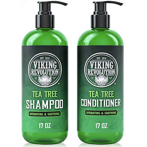 Tea Tree Shampoo and Conditioner Set - Hydrates, Moisturizes & Soothes Dry and Itchy Scalps - With Natural Tea Tree Oil - 17 oz
