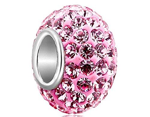 EEvER Design parfait DIY Pop Brilliant Pandora Birthstone Perles Zircon Crystal Charms Perle Pendentif Bracelet