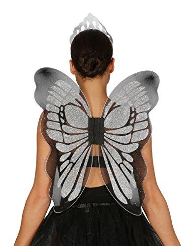 Guirca Fiestas GUI18603 - Silber Schmetterling-Flügel, 46x54 cm