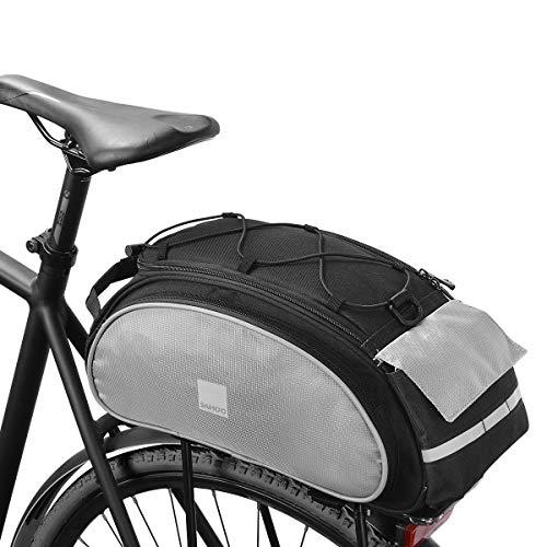Roswheel 14541 Multifunctional Bike Rear Seat Cargo Bag Bicycle Rack Trunk Panniers, Black