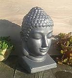 Buddha Buddhakopf ca. 40 cm hoch, Steinzeug glasiert, Feng Shui, kein Terracotta Terrakotta Garten Deko Figur Kopf