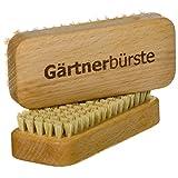 SIDCO Gärtnerbürste 2 x Nagelbürste Handwaschbürste Handwerkerbürste Waschbürste Handbürste Holz