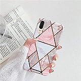 Surakey Coque Huawei P20 Coque Géométrique Marbre Motif Ultra Fine Souple TPU Silicone Gel Case...