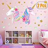 Best Wall Decor For Bedrooms - 2 Sheets Large Size Unicorn Wall Decor,Removable Unicorn Review