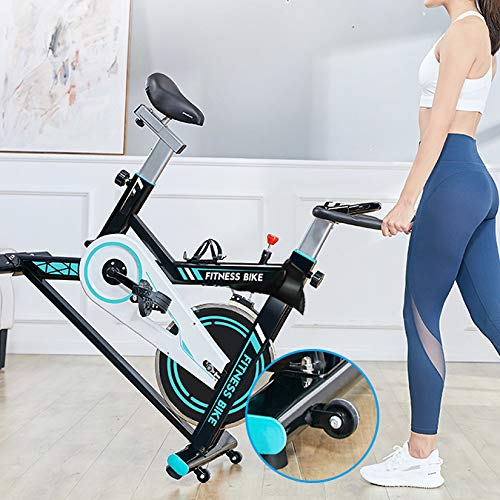 Afully Indoor Exercise Bike, Indoor Cycling Stationary Bike Belt Drive with Adjustable Resistance, LCD Monitor, Pad/Phone Holder (180-1)