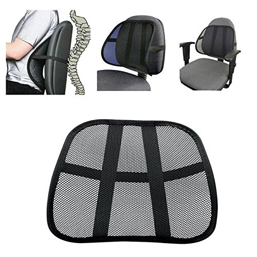 Danyoun Multi-use Cool Vent Mesh Back Lumber Support, Massage Back Mesh Lumbar Support Cushion, Relieve Back Pain Waist Support Pad Mat for Office Chair, Car Seat, and Other,1PCS