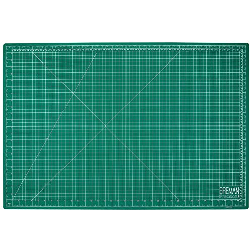 Breman Precision Self Healing Cutting Mat I Sewing Craft Quilting Fabric Rotary Cutting Mat I Perfect for Crafters Hobbyists and Artists I 2 Sided 5 Ply PVC Craft Mat with Grid Lines I A1 24x36 inches