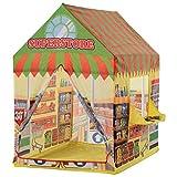 HOMCOM Kinderspielhaus Spielzelt Supermarkt Tür und Verkaufsfenster 3 Jahre Rollenspiel Polyester...