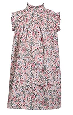 Bonnie Jean Sleeveless Floral Print Float Dress with Smocked Chest Panel, 2T Pink