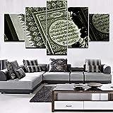 zszy 5 Panel Islam Bibel Poster Wohnkultur Rahmen Moderne
